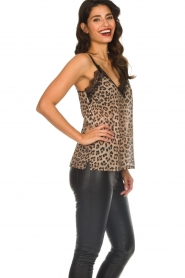 Set |  Sleeveless leopard printed top Channah | brown  | Picture 5