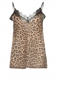Set |  Sleeveless leopard printed top Channah | brown  | Picture 1