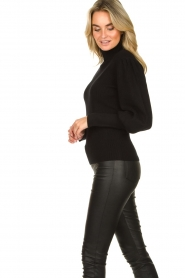 Silvian Heach |  Turtleneck sweater with balloon sleeves Safari | black  | Picture 6