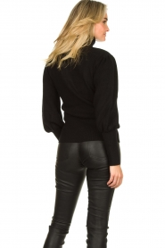 Silvian Heach |  Turtleneck sweater with balloon sleeves Safari | black  | Picture 7