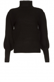 Silvian Heach |  Turtleneck sweater with balloon sleeves Safari | black  | Picture 1
