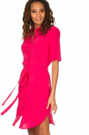 Patrizia Pepe | Jurk met kraag Donna | roze  | Afbeelding 4