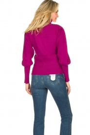 Silvian Heach |  Turtleneck sweater with balloon sleeves Safari | pink  | Picture 6