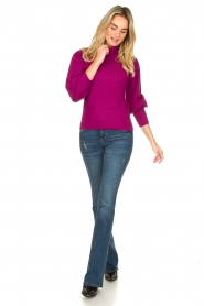Silvian Heach |  Turtleneck sweater with balloon sleeves Safari | pink  | Picture 3