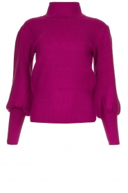 Silvian Heach |  Turtleneck sweater with balloon sleeves Safari | pink  | Picture 1