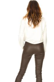 Liu Jo Sport | Katoenen trui met logo Seva | wit  | Afbeelding 7