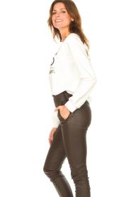 Liu Jo Sport | Katoenen trui met logo Seva | wit  | Afbeelding 6