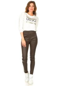 Liu Jo Sport | Katoenen trui met logo Seva | wit  | Afbeelding 3
