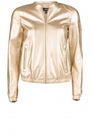 Arma |  Leather bomber jacket Paz | gold  | Picture 1