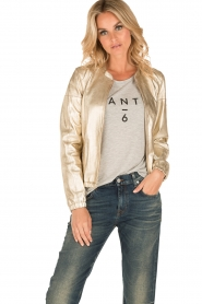 Arma |  Leather bomber jacket Paz | gold  | Picture 2