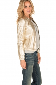Arma |  Leather bomber jacket Paz | gold  | Picture 4