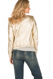 Arma |  Leather bomber jacket Paz | gold  | Picture 5