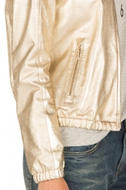 Arma |  Leather bomber jacket Paz | gold  | Picture 7
