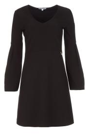 Patrizia Pepe | Sierlijke jurk Mimi | zwart  | Afbeelding 1