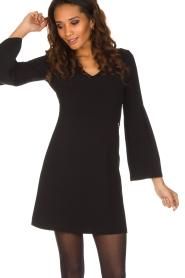 Patrizia Pepe | Sierlijke jurk Mimi | zwart  | Afbeelding 2
