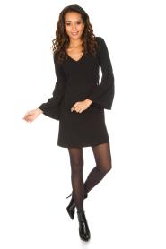 Patrizia Pepe | Sierlijke jurk Mimi | zwart  | Afbeelding 3