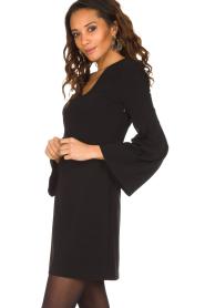 Patrizia Pepe | Sierlijke jurk Mimi | zwart  | Afbeelding 4
