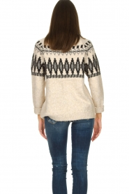 Silvian Heach |  Turtleneck sweater with print Bismarch | natural  | Picture 7