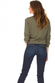 Liu Jo Sport |  Cotton sweater with logo Seva | green  | Picture 7