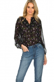 Set |  Blouse with floral pattern Espen | black  | Picture 3