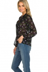 Set |  Blouse with floral pattern Espen | black  | Picture 4