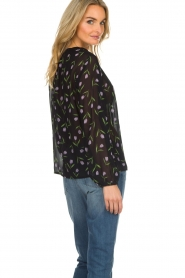 Set |  Blouse with floral pattern Espen | black  | Picture 5
