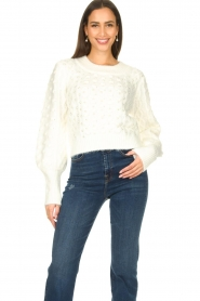 Silvian Heach |  Pearl sweater Adoration | white  | Picture 2