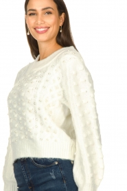 Silvian Heach |  Pearl sweater Adoration | white  | Picture 8