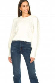 Silvian Heach |  Pearl sweater Adoration | white  | Picture 4