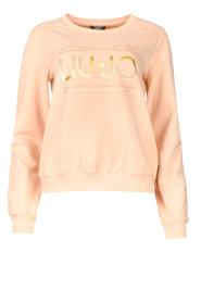 Liu Jo Sport |  Cotton sweater with logo Seva | pink  | Picture 1