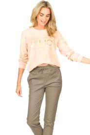 Liu Jo Sport |  Cotton sweater with logo Seva | pink  | Picture 2