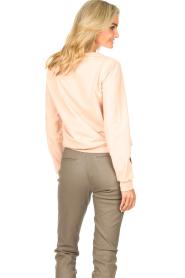Liu Jo Sport |  Cotton sweater with logo Seva | pink  | Picture 7