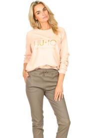 Liu Jo Sport |  Cotton sweater with logo Seva | pink  | Picture 5