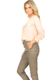 Liu Jo Sport |  Cotton sweater with logo Seva | pink  | Picture 6