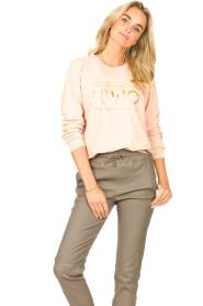 Liu Jo Sport |  Cotton sweater with logo Seva | pink  | Picture 4