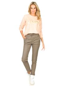Liu Jo Sport |  Cotton sweater with logo Seva | pink  | Picture 3