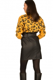 Silvian Heach |  Turtleneck sweater with leopard print Trees | yellow  | Picture 7