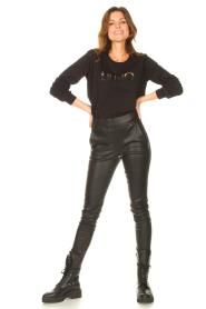 Liu Jo Sport |  Cotton sweater with logo Seva | black  | Picture 3