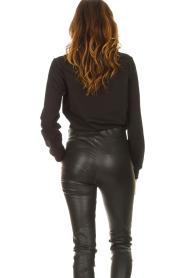 Liu Jo Sport |  Cotton sweater with logo Seva | black  | Picture 6