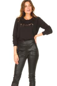 Liu Jo Sport |  Cotton sweater with logo Seva | black  | Picture 2