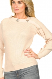 Silvian Heach |  Sweater with button details Abduction | natural  | Picture 7