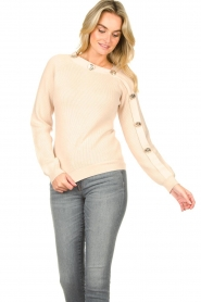 Silvian Heach |  Sweater with button details Abduction | natural  | Picture 2