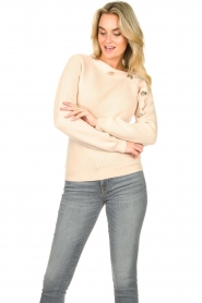 Silvian Heach |  Sweater with button details Abduction | natural  | Picture 4