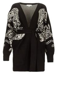 Silvian Heach |  Leopard printed cardigan Cliffhanger | black  | Picture 1