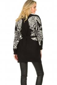 Silvian Heach |  Leopard printed cardigan Cliffhanger | black  | Picture 5