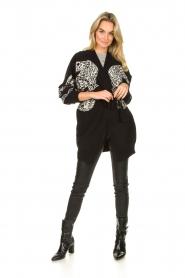 Silvian Heach |  Leopard printed cardigan Cliffhanger | black  | Picture 3