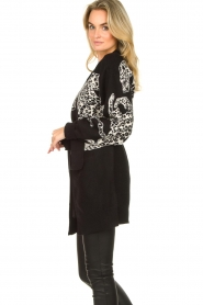 Silvian Heach |  Leopard printed cardigan Cliffhanger | black  | Picture 4