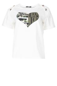 Liu Jo Sport |  Cotton T-shirt with imprint Tyara | white  | Picture 1
