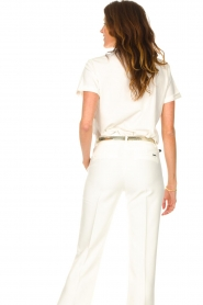 Liu Jo Sport |  Cotton T-shirt with imprint Tyara | white  | Picture 6