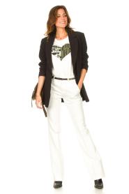 Liu Jo Sport |  Cotton T-shirt with imprint Tyara | white  | Picture 3